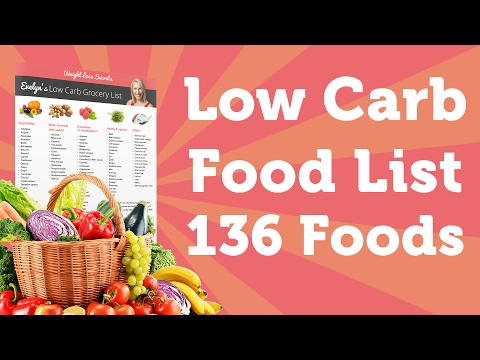 low carb foods list printable 136 foods to lose weight fast
